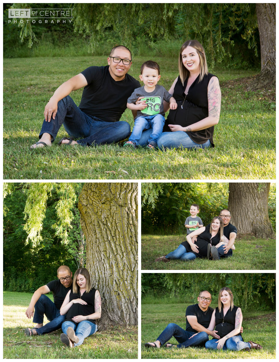 family maternity session collage 12
