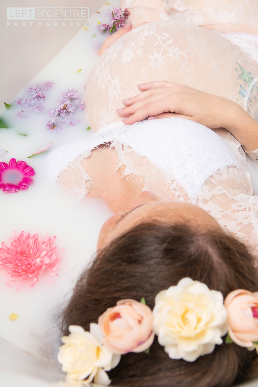milk bath pregnancy photo