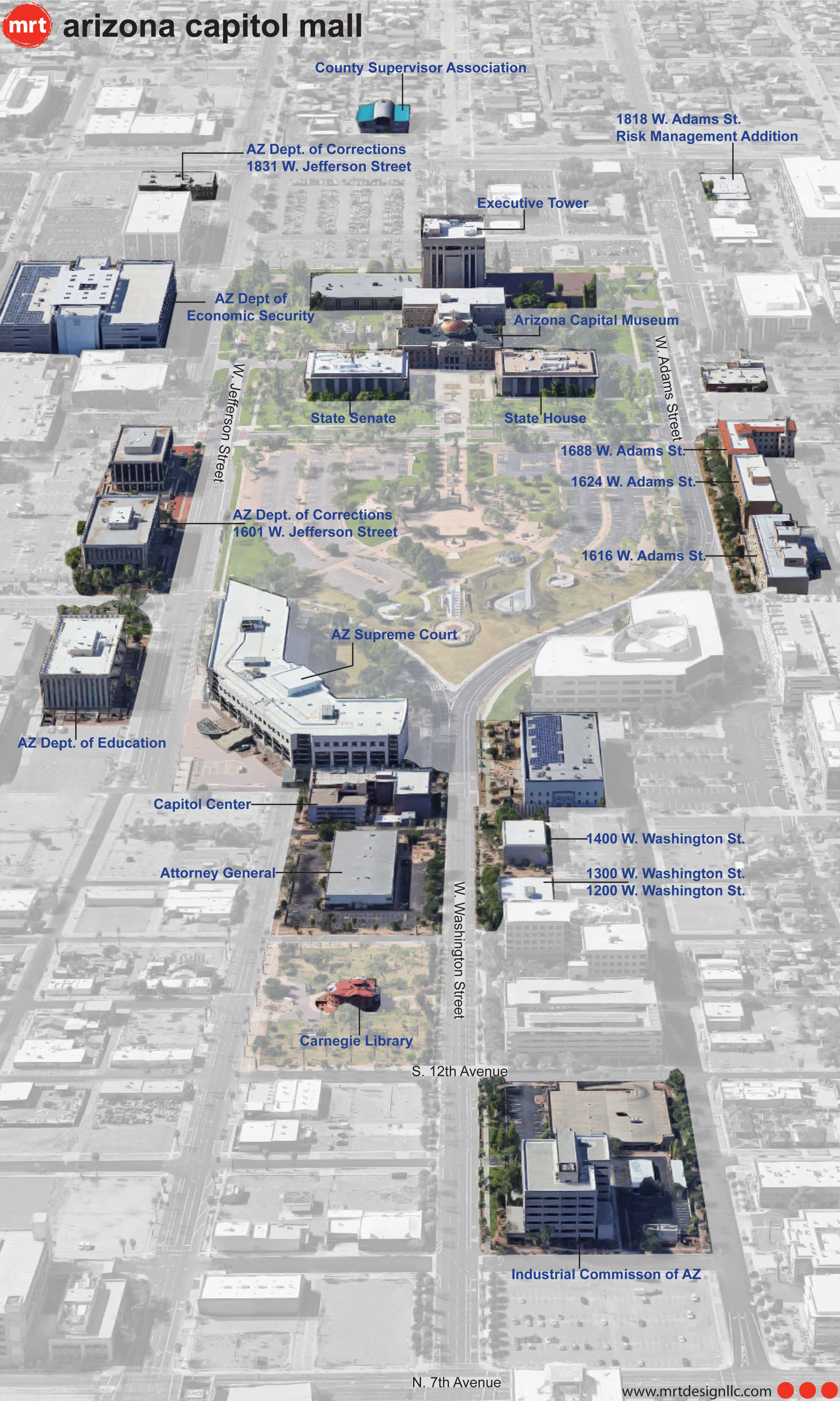 Capitol Mall Extent of Work Aerial