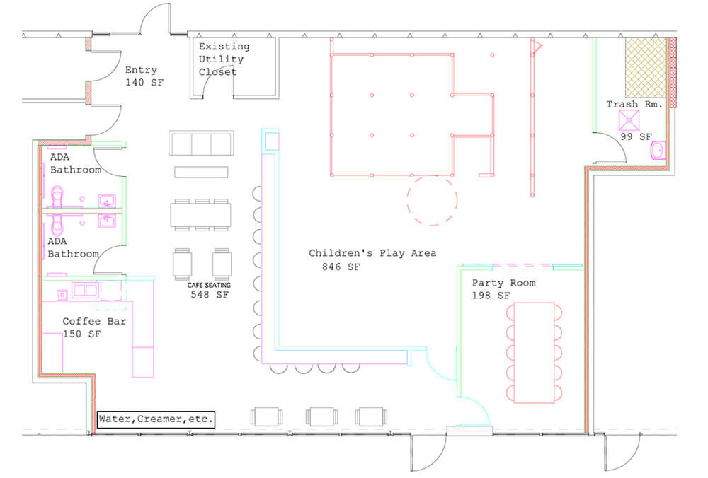 The Wiggle Room Floor Plan