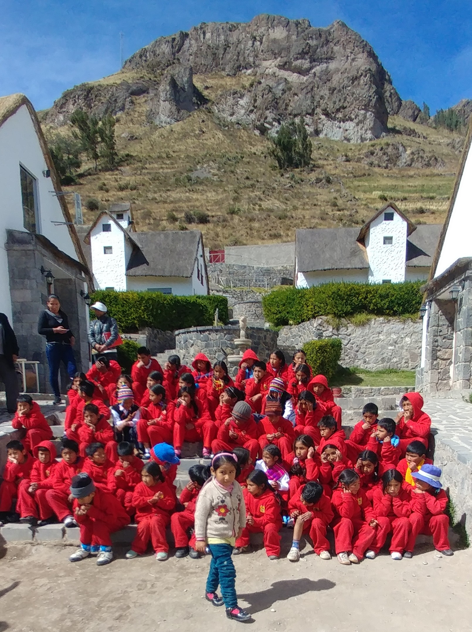 We recently traveled to Peru, Alpaca's native land, and visited the school we help to support.