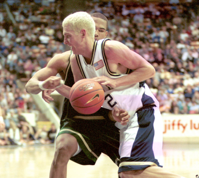 Travis Hansen in a game vs Colorado St. Hansen played for BYU from 2000-2003. (Universe Photo)