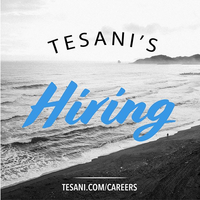 🎉TESANI'S HIRING!🎉 We are looking for customer service representatives, customer advocates, and sales development representatives. Do you know someone that works hard, loves to laugh and shows up ready to make the most out of the day? Tag them below 👇 and go to tesani.com/careers to work at the best place ever!
