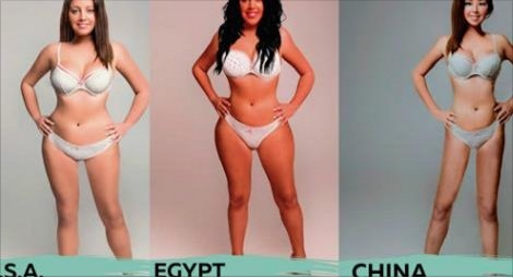 "good :       How 18 Different Countries Photoshopped One Woman to Fit Their Idea of 'Beautiful'      What the ""perfect body"" looks like varies greatly from country to country.  Superdrug Online Doctors  created a project called "" Perceptions of Perfection "" to highlight the different views of beauty from 18 different countries. They hired a designer from each of the countries included and had them all photoshop the same image to reflect the beauty standards of each country.    The series starts with the ""original"" photo and changes drastically from there."