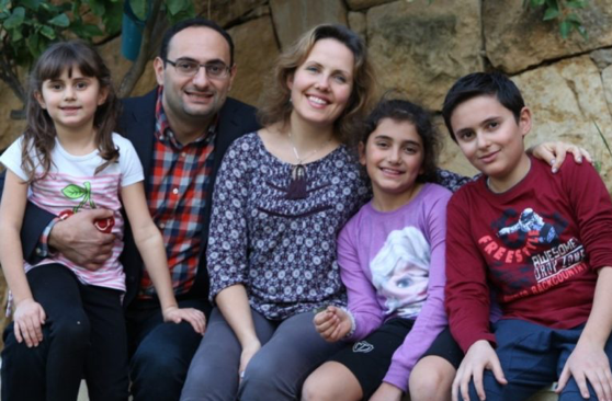 Hikmat Kashouh and his family