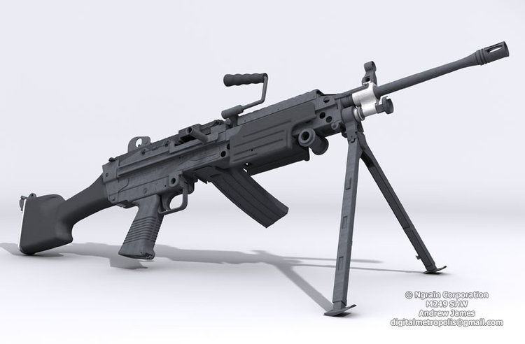 M246 SAW Machine Gun