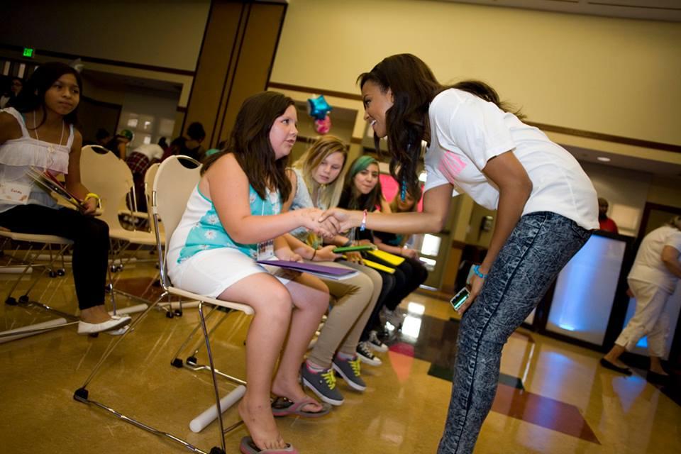 1st Annual Girl Talk! - Meagan meeting the girls!