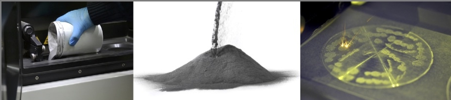 Additive manufacturing involves transport, storage and processing of powdered metals