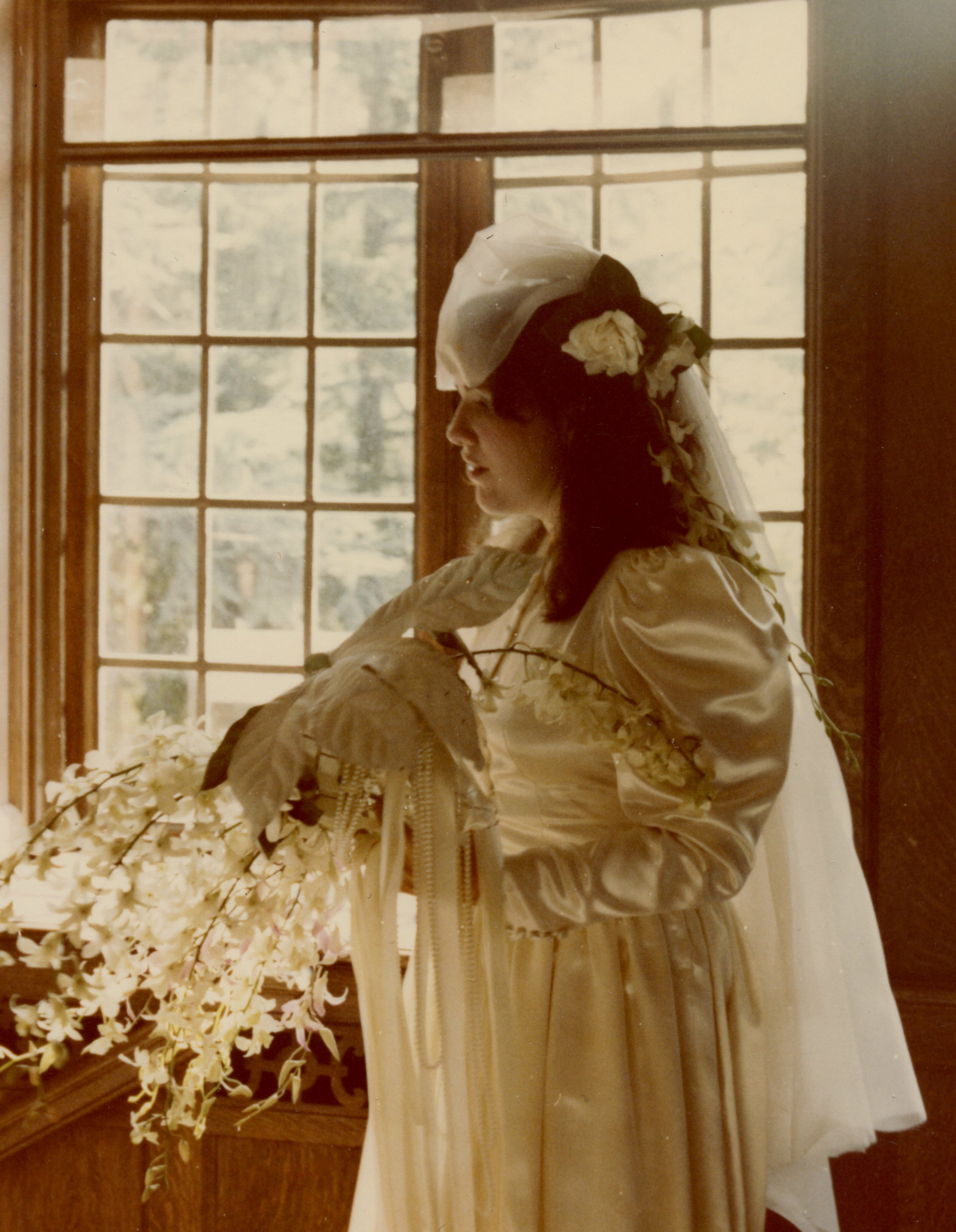 Ellen as bride in window.jpg
