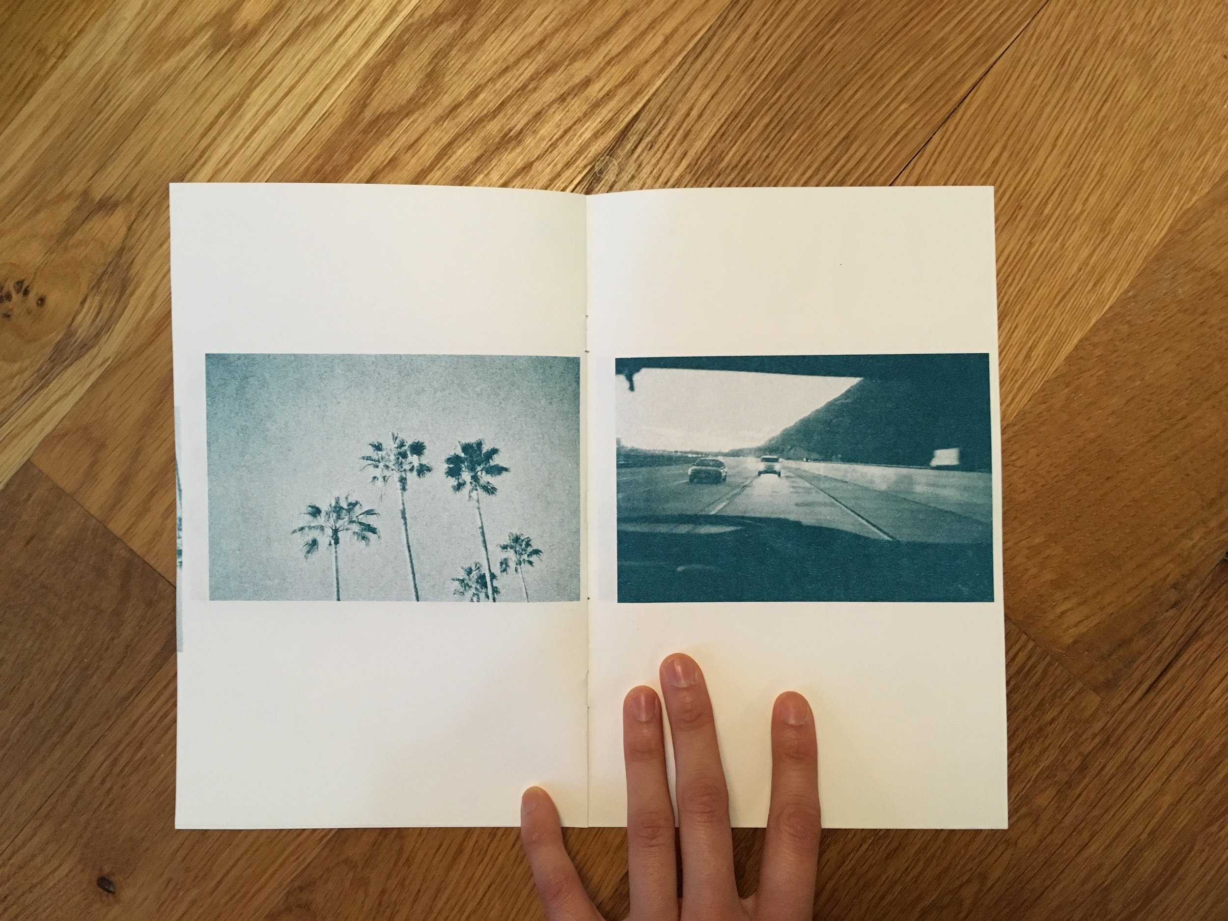A risograph printed zine of film photographs taken in my hometown in Southern California.