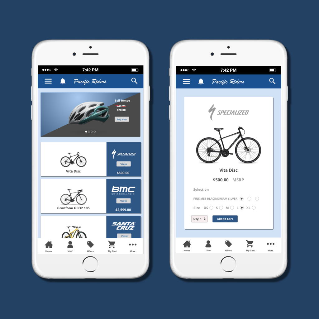 Bicycle ecommerce website-UI concept piece   Bicycle ecommerce allows you to view bikes close up.