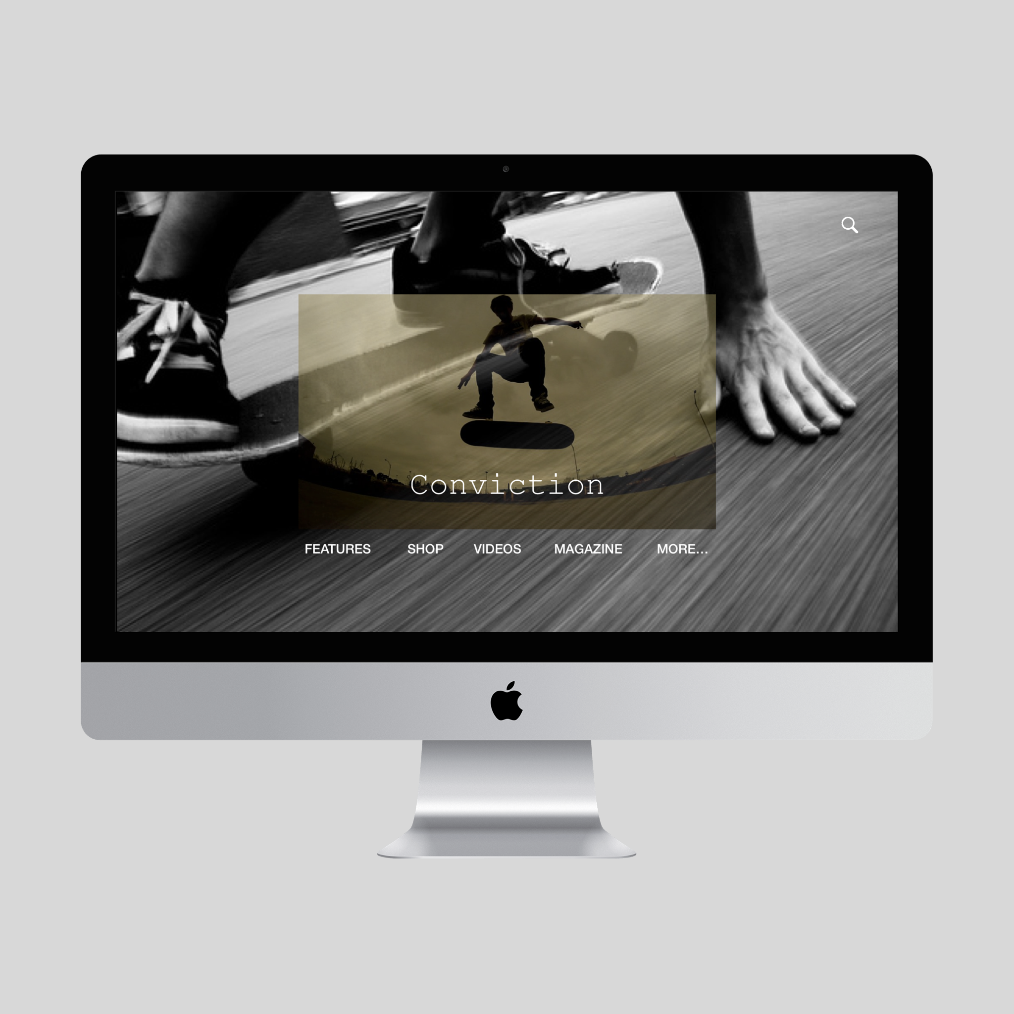 Website Design- UI Concept Piece   An example of an effective use of brutalism. This is a design for a fictional skateboarding company.