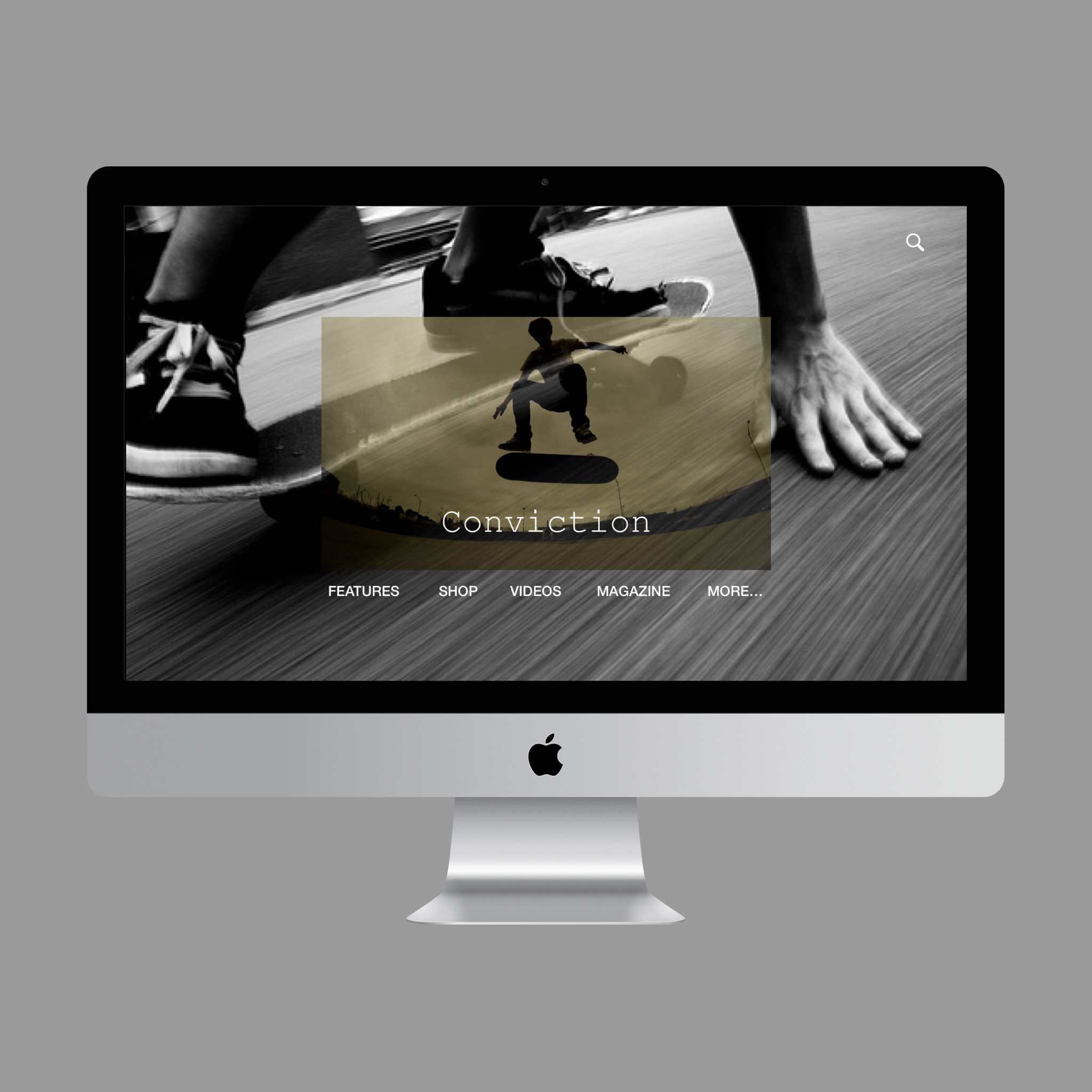 Website Design- Concept Piece   An example of an effective use of brutalism. This is a design for a fictional skateboarding company.