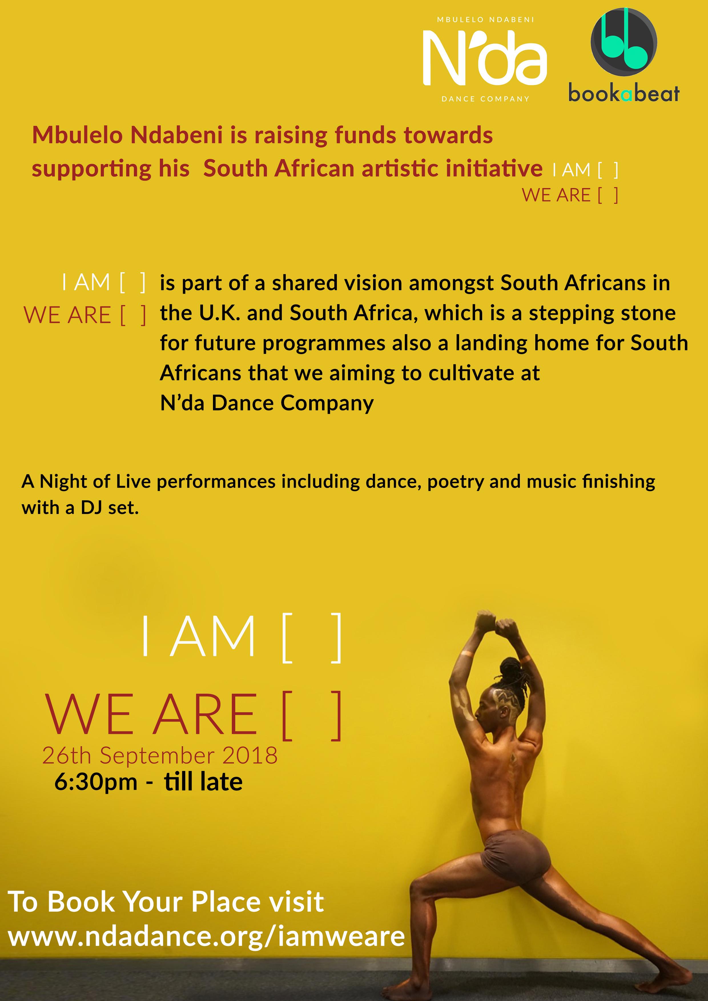 Mbulelo Ndabeni South Africa Fundraiser London