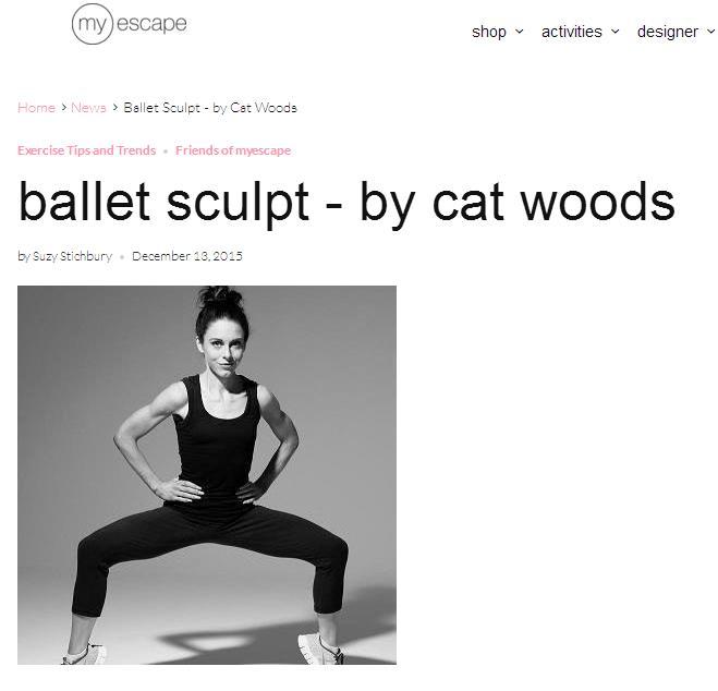 Article on Ballet Sculpt for MyEscape