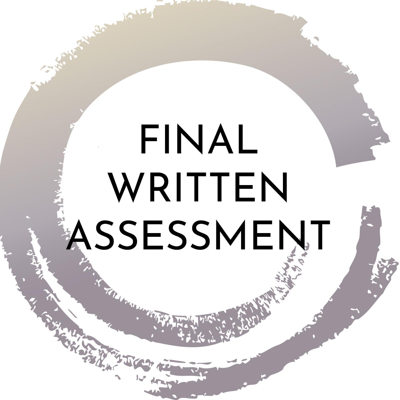 FINAL WRITTEN ASSESSMENT BY TUTOR -