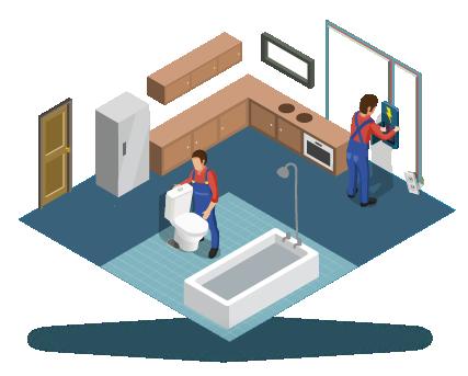 5. SHOWROOMTRAJECT - Terwijl het traject van welstands- en vergunningaanvraag loopt, start het showroomtraject. Na de eerste werkbespreking gaat de klant tegelwerk, sanitair en de keuken uitzoeken. Tijdens de tweede werkbespreking worden de bouwtekening, de materiaalstaat, de afwerkstaat, het meer- en minderwerk en de planning besproken. De besproken wijzigingen zijn belangrijk voor de definitieve werktekeningen.