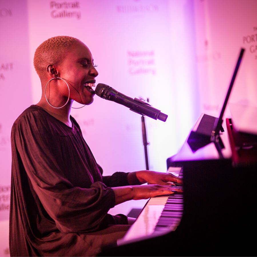 Laura Mvula performing at The Portrait Gala 2017