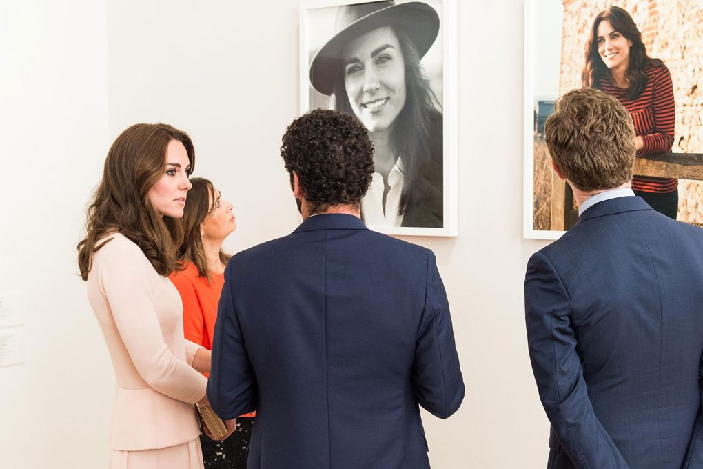 Duchess of Cambridge and Alexandra Shulman Vogue 100 portrait unveiling