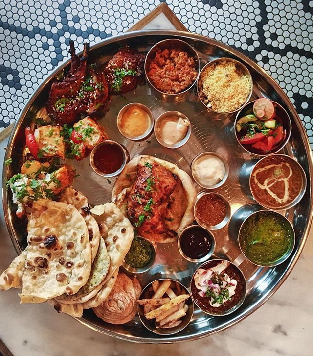 THIS is the mighty Sunday thali at @tandoorchop 😍 We ate it all. Between two people. Obviously. 🐽