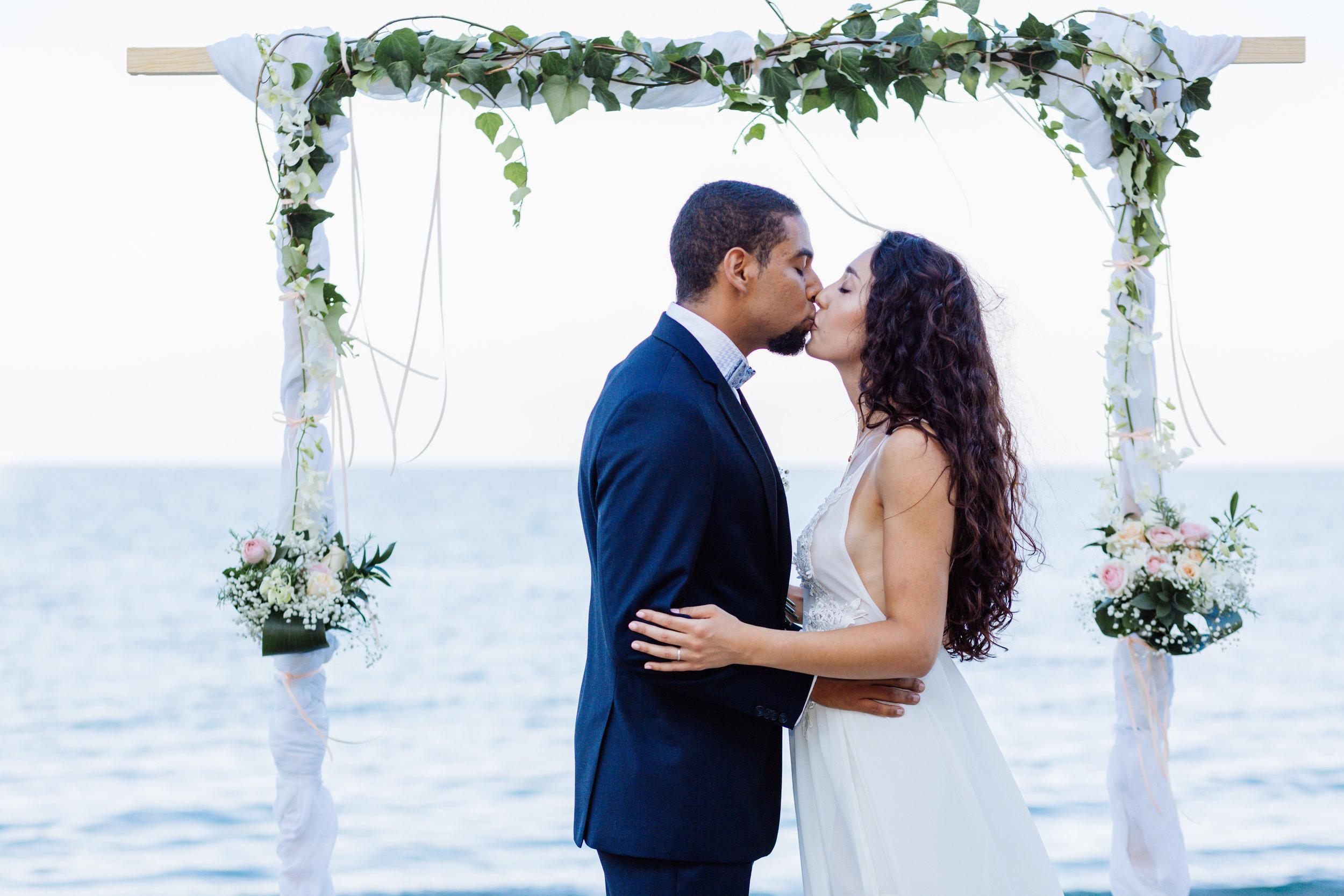 Griekenland huwelijk op het strand