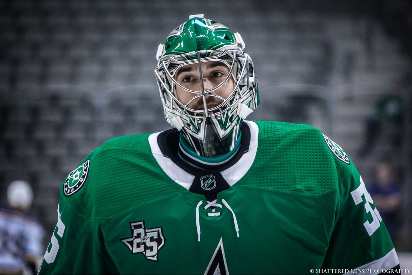 Mike McKenna (born April 11, 1983) is an American professional ice hockey goaltender. He is currently signed with the Dallas Stars of the National Hockey League (NHL).  Photo Credit: Shattered Lens Photography