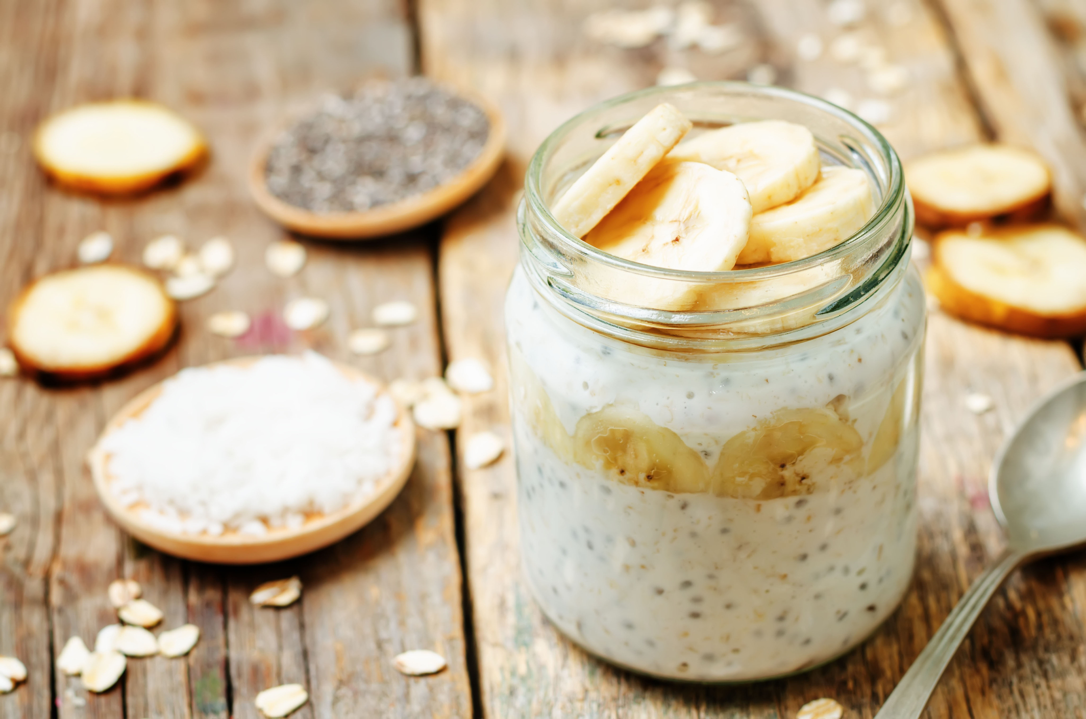 Banana Chia Overnight Oats