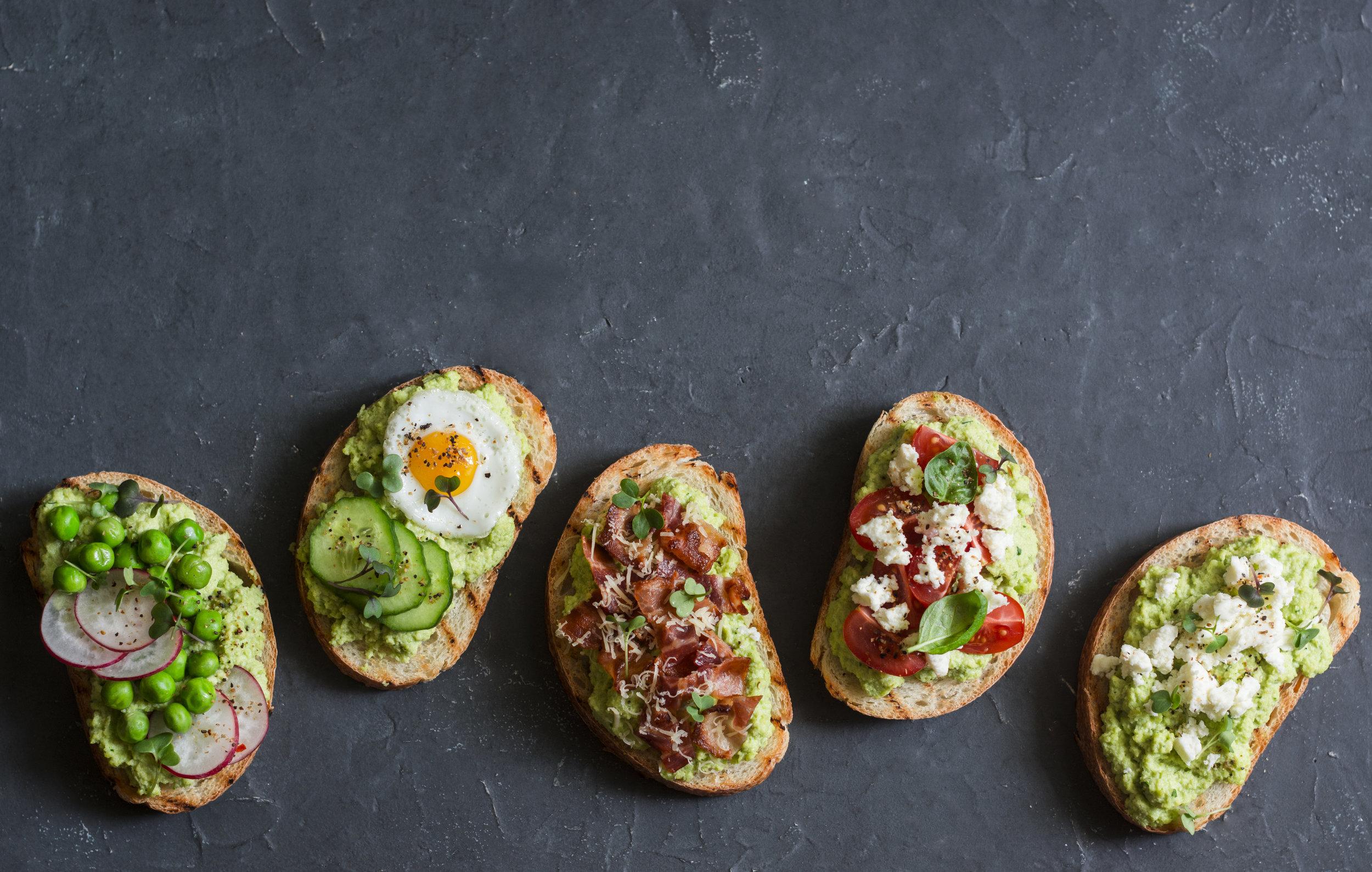 Avocado toast - so many options