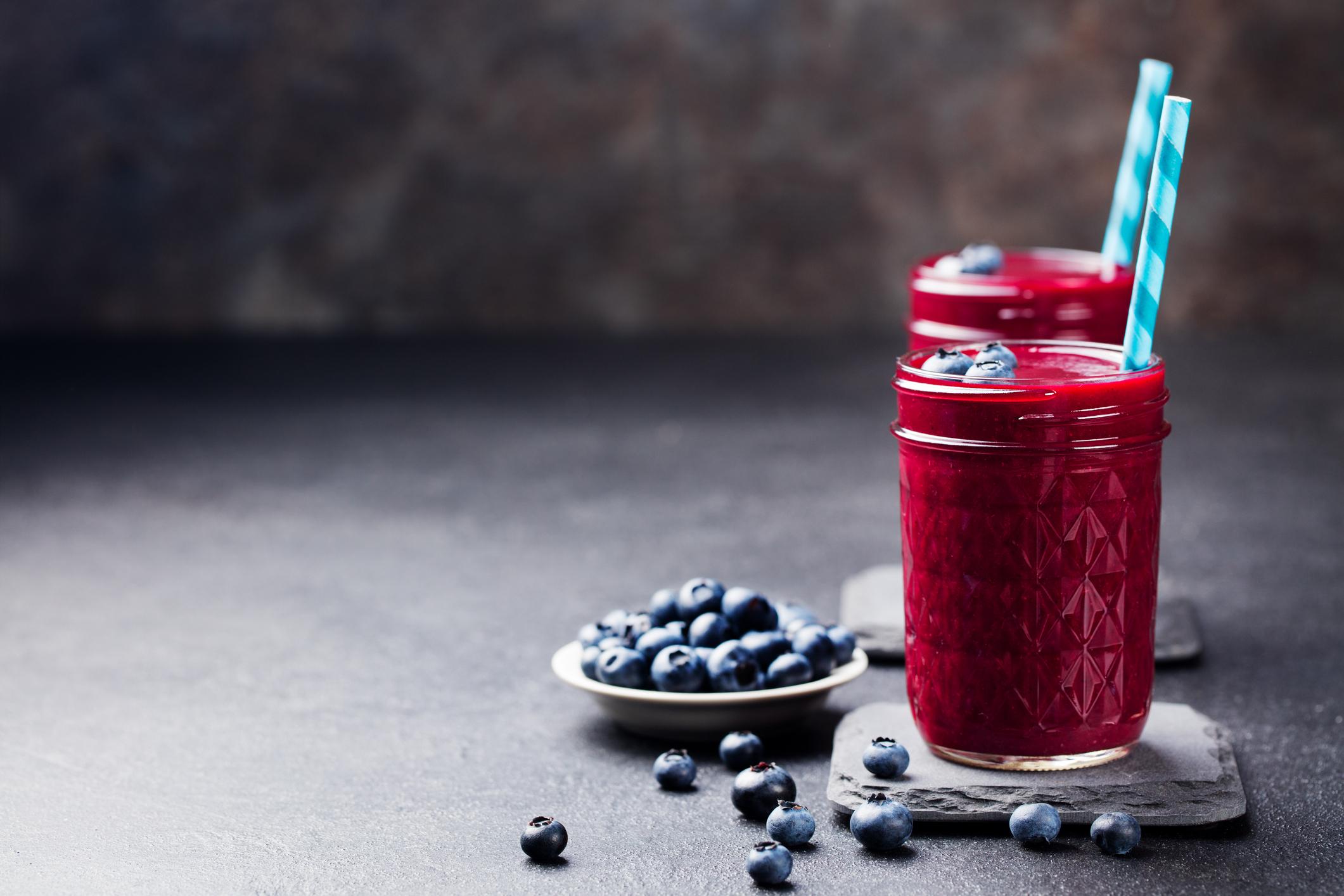 Blueberry Mint Kombucha Freeze
