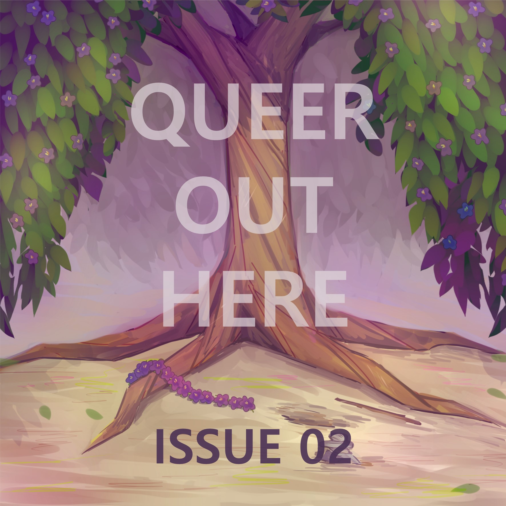 Queer Out Here Issue 02 cover by Eris Barnes
