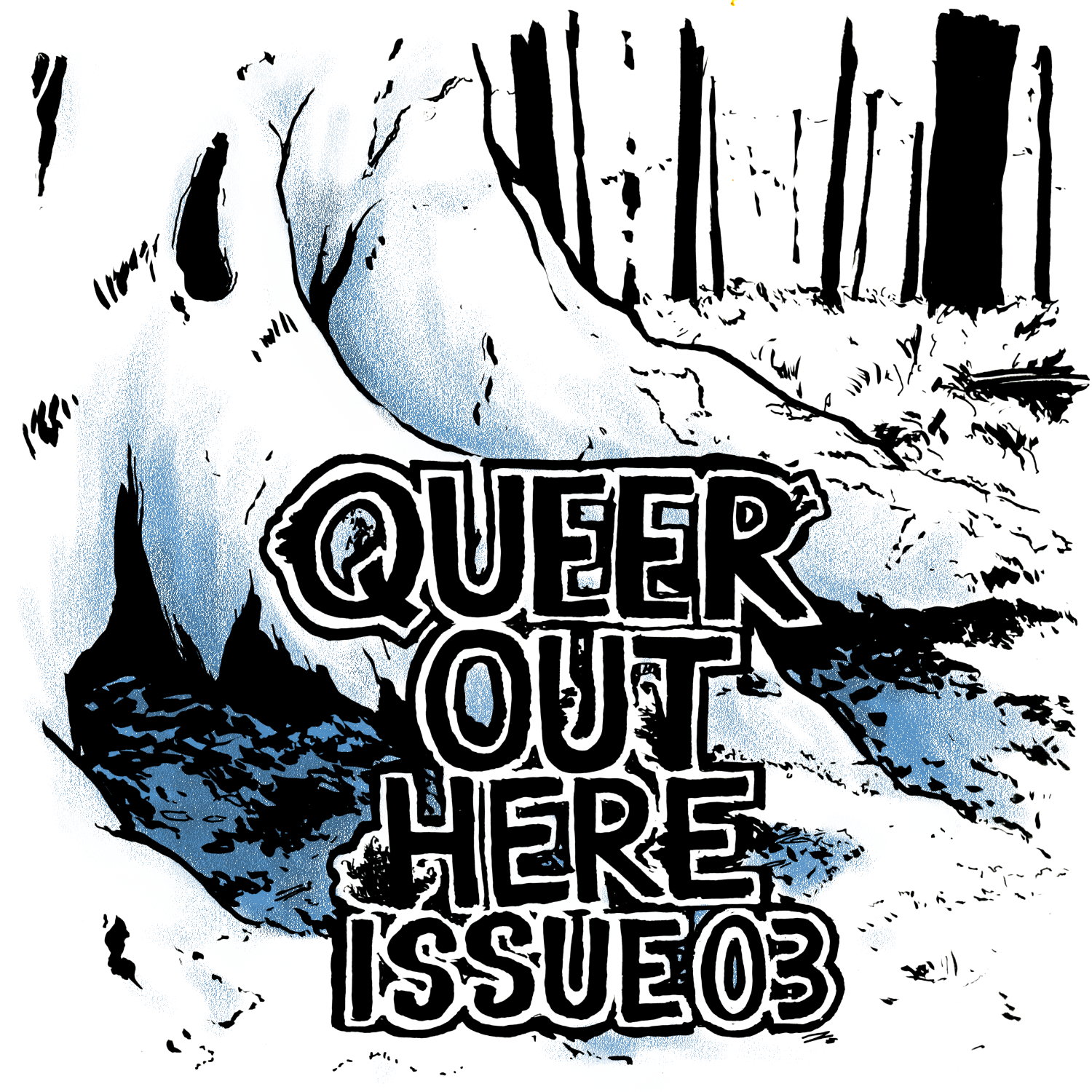 Queer Out Here Issue 03 cover by Dev Moore