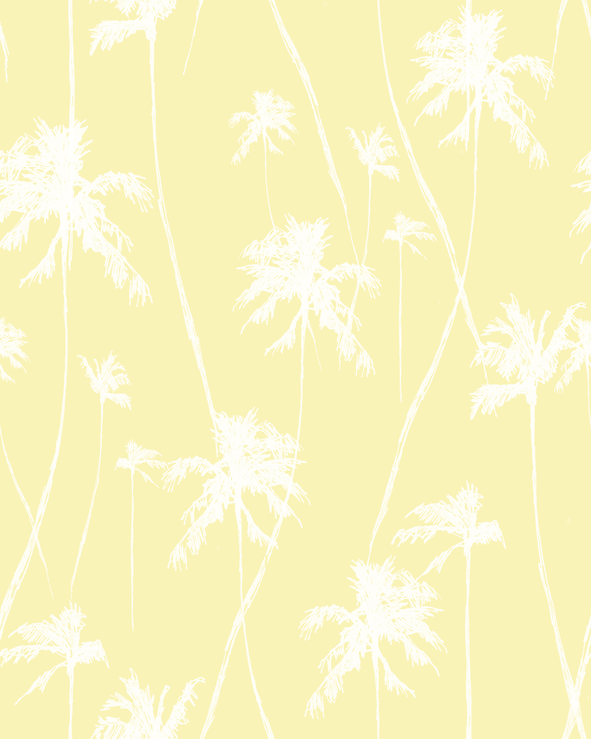 Floating Palms    Floating Palms  print is used in the sand&palm Another Land/Palm collection. It is created using sketches of the designers travels in the tropics.