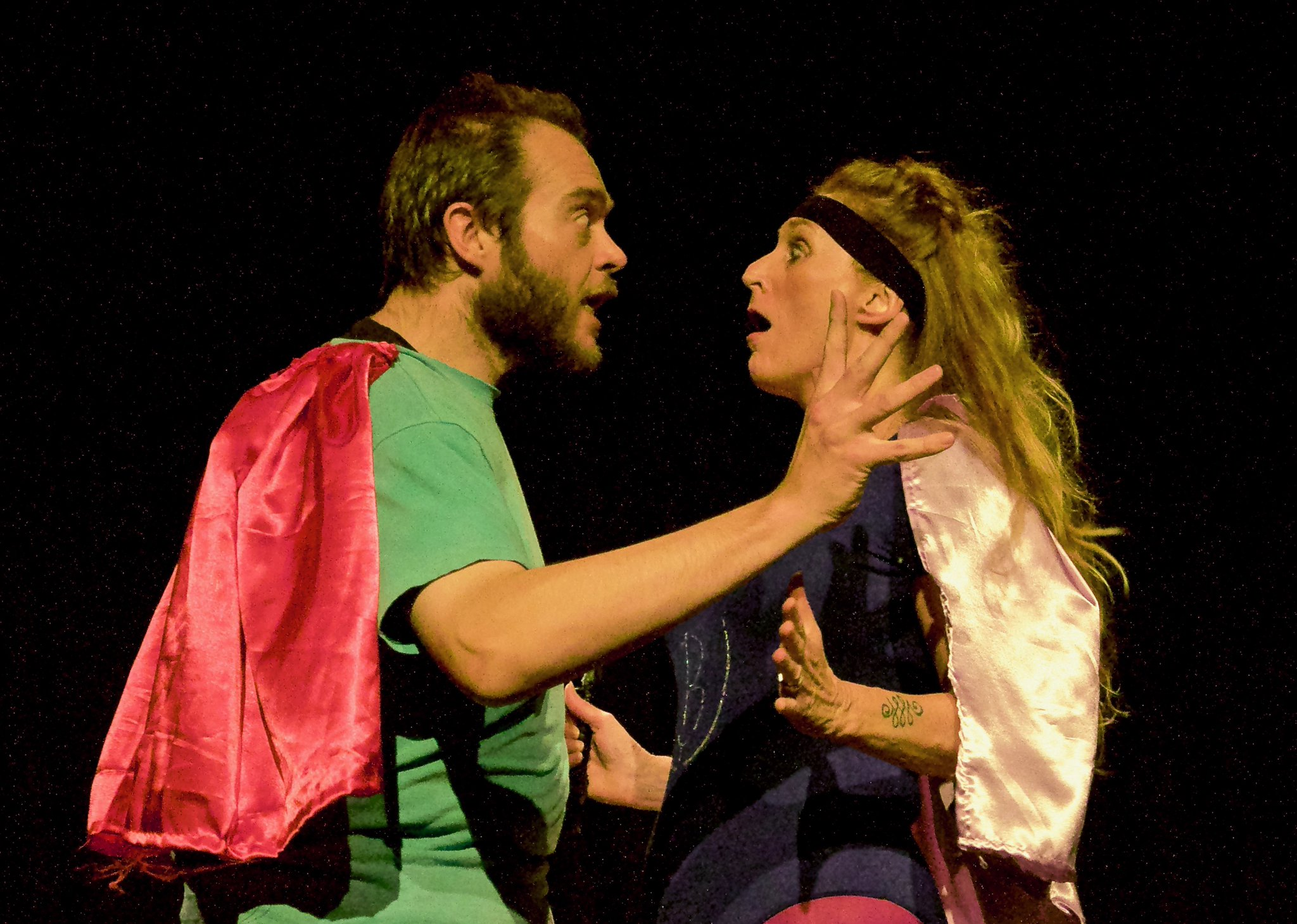 """Roger Leese and Sarah Bishop in """"True To You"""". Photo credit: Alec James Photography."""