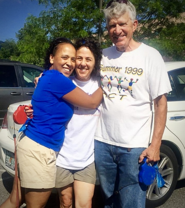 AAC President/Director, Karen Hall, with AAC founders Missy and Bob.