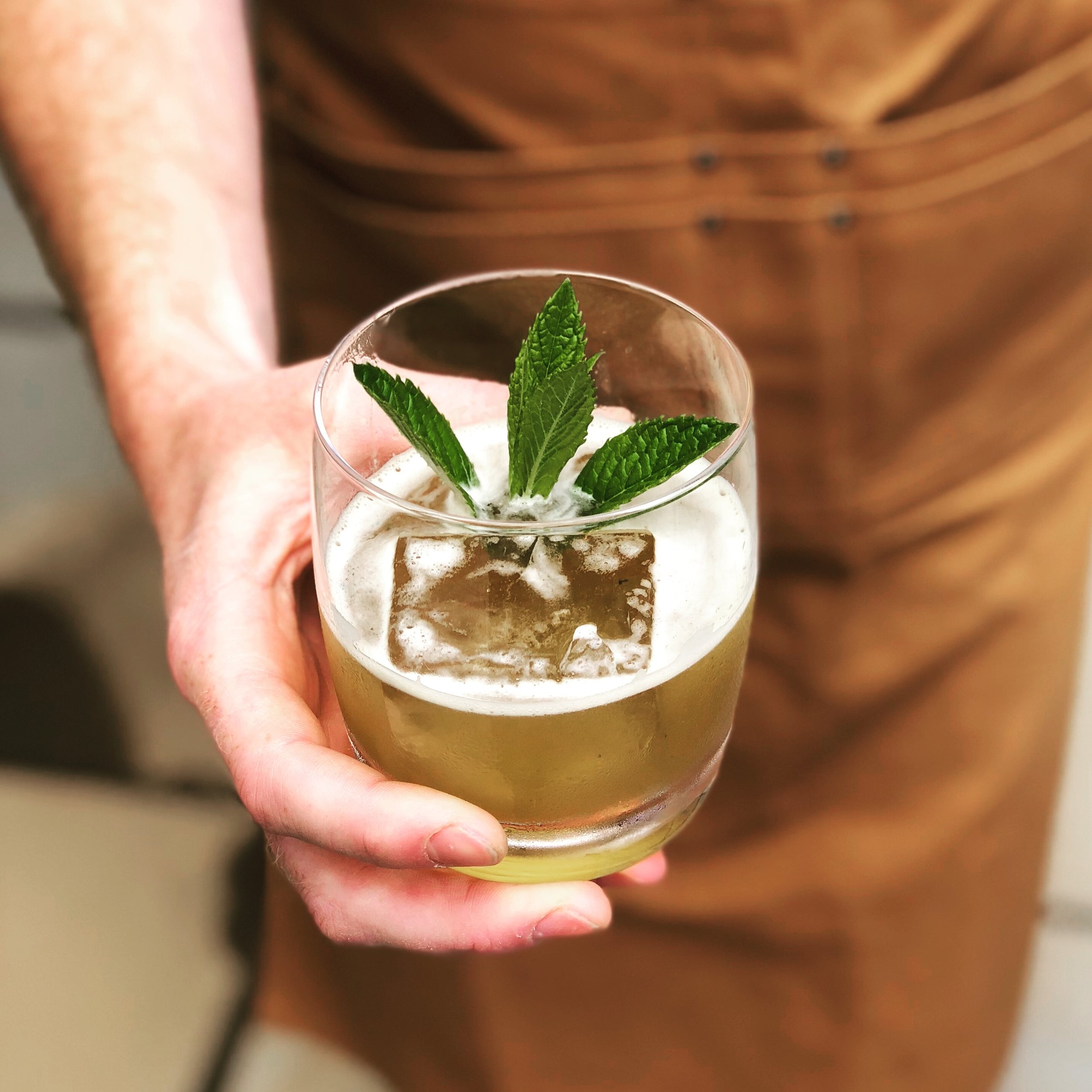 IMPEACHMINT // Bourbon, Punt e Mes, smoked peach, mint, lemon