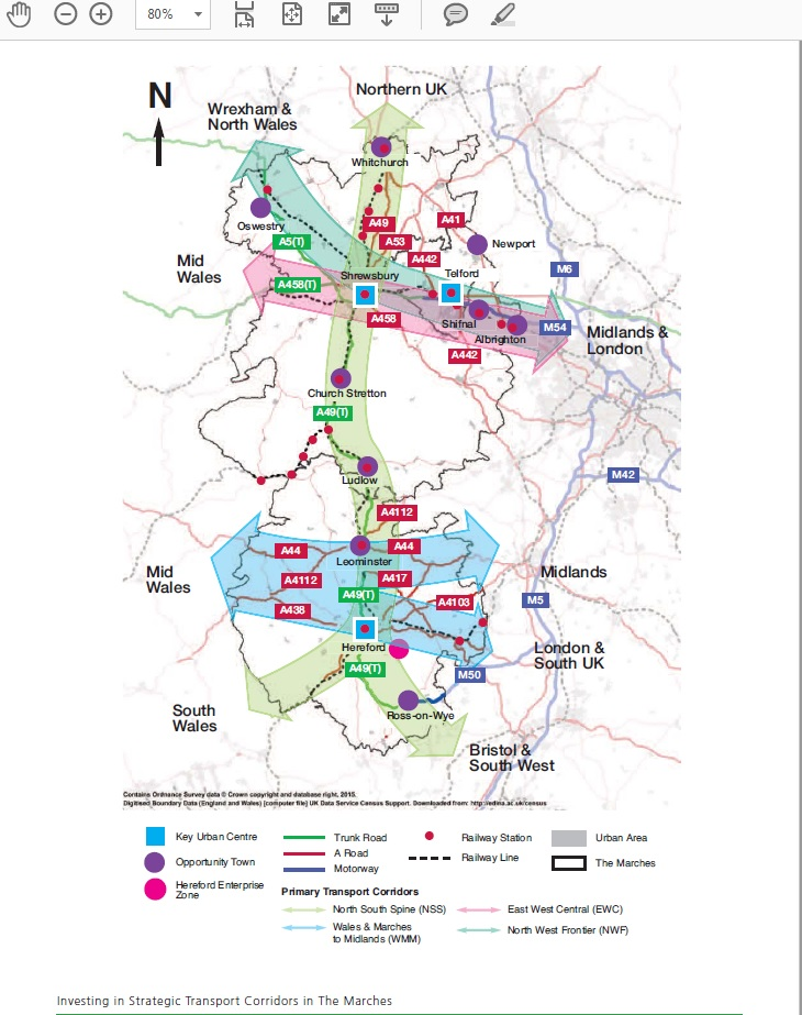 Marches Road corridor Map