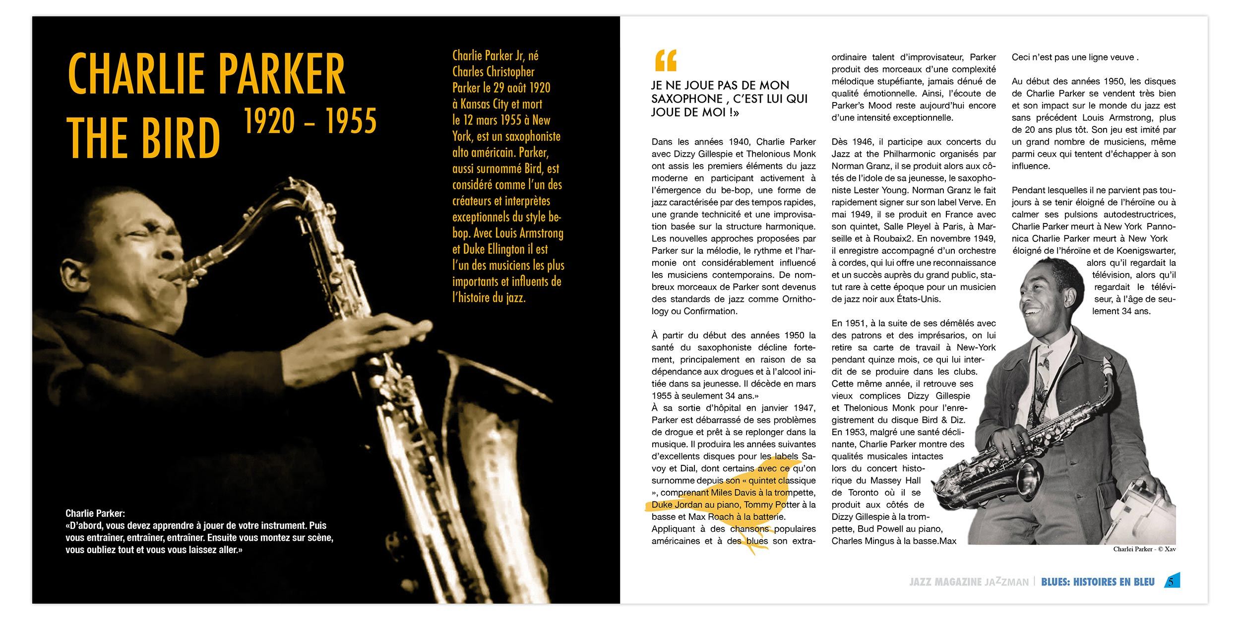 Magazine Apprendre La Photo jazz supplement magazine spreads — leon griffaton
