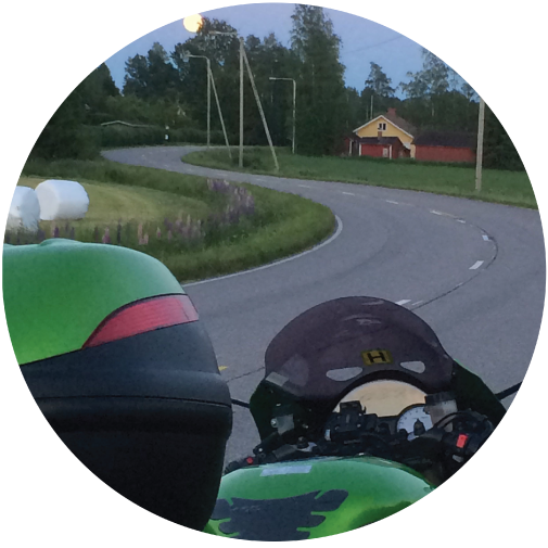 Motorcycle road Finland