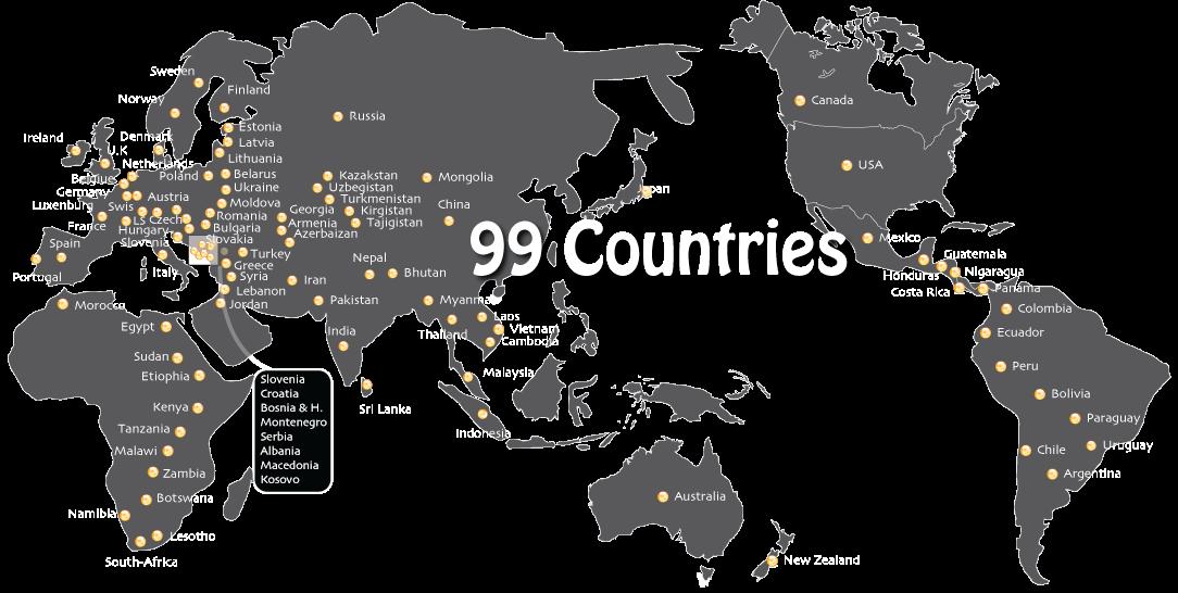 99 countries on motorbike!