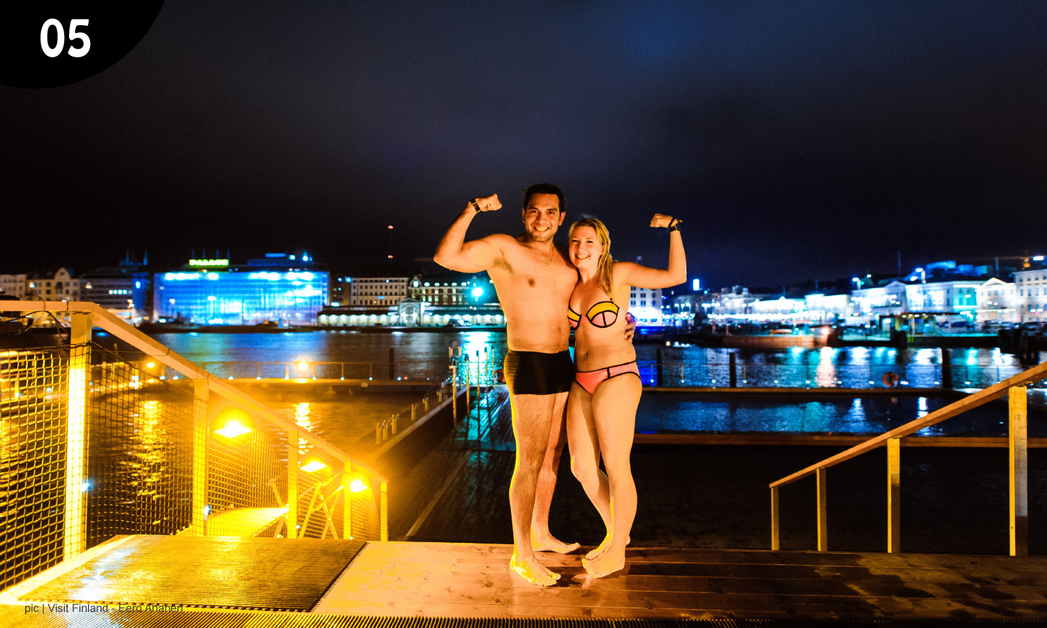 "Yes, Finns go to sauna in the nude... even with strangers. Don't worry – we've seen our fair share of naked human bodies and it's not a ""thing"" for us! But if you can't get over it, Finns will understand you wanting to wear a swimsuit or a towel. -"