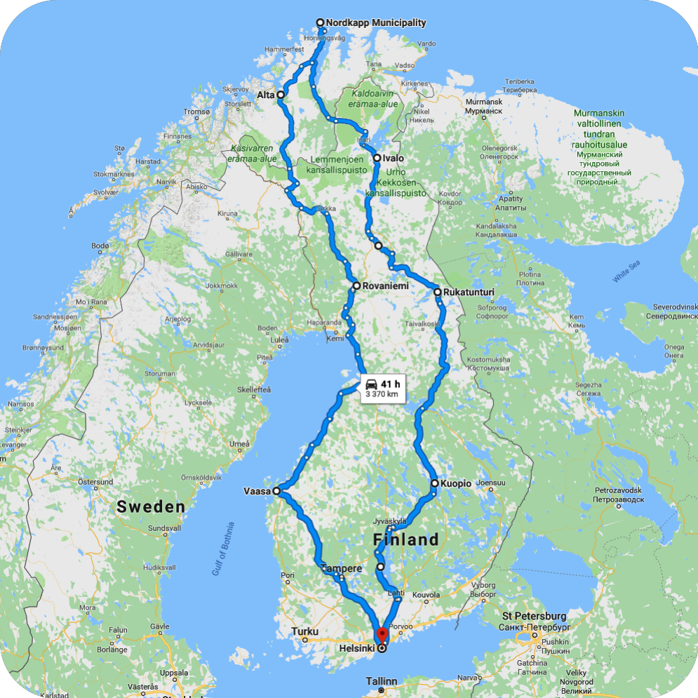 Polar Circle route map!
