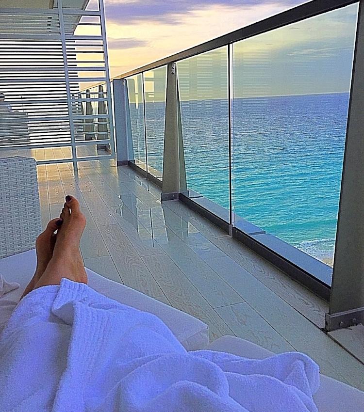 Relaxing on the balcony before breakfast