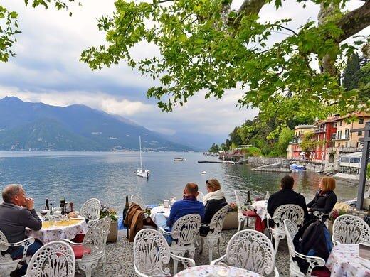 Restaurant on Lake Como