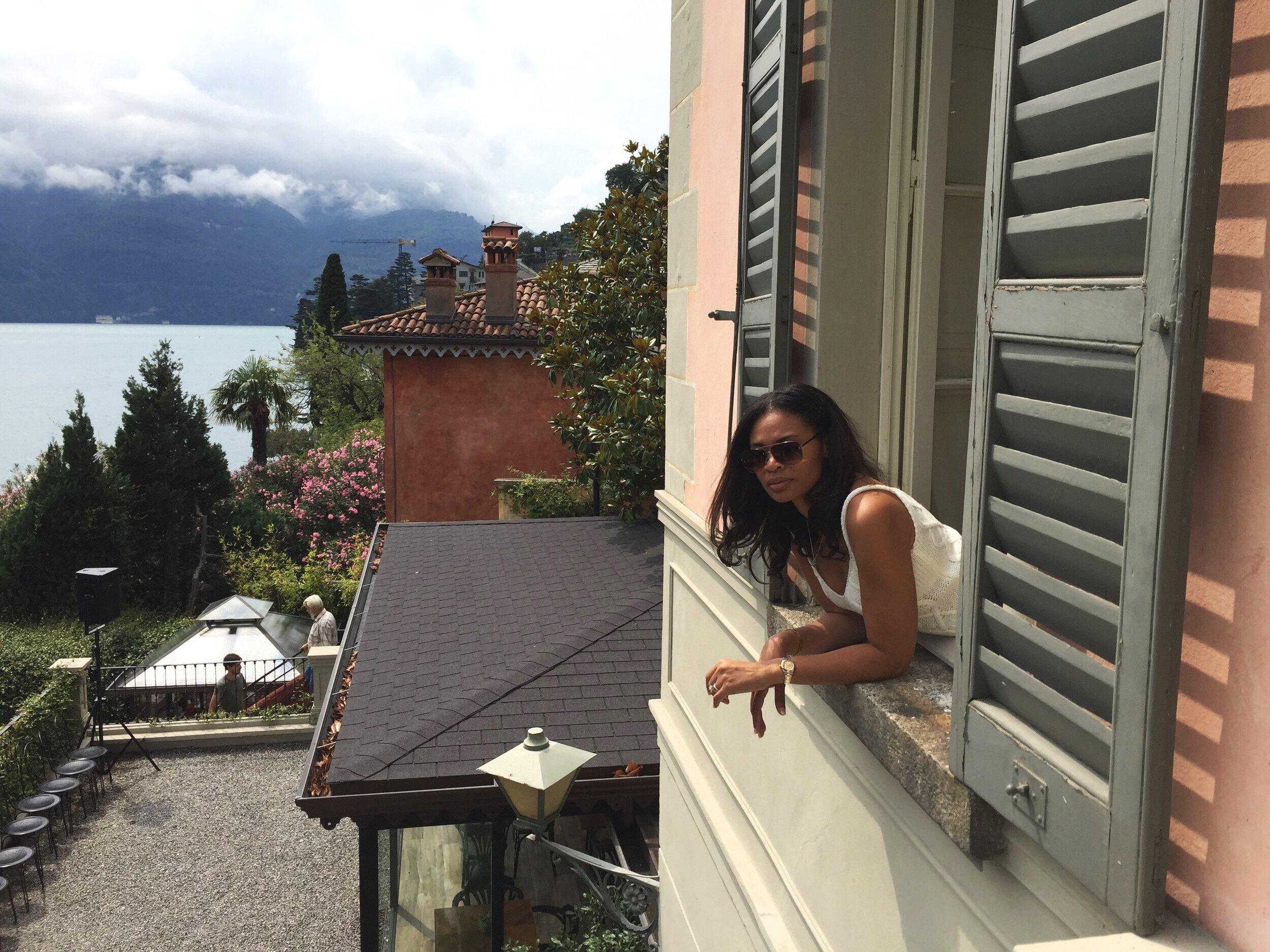 From the bedroom window at Villa Vittoria in Laglio