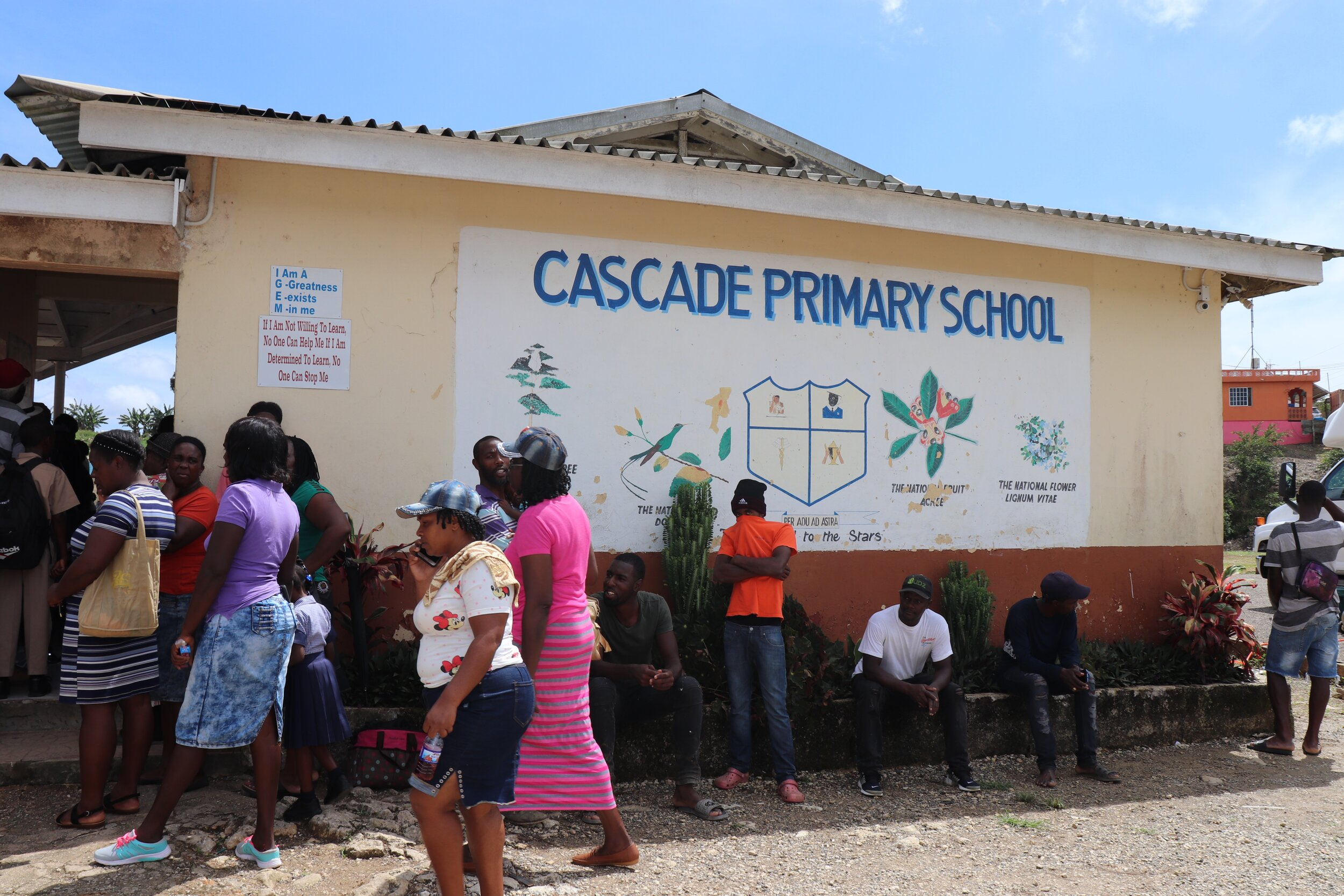 The mission took place at Cascade Primary School