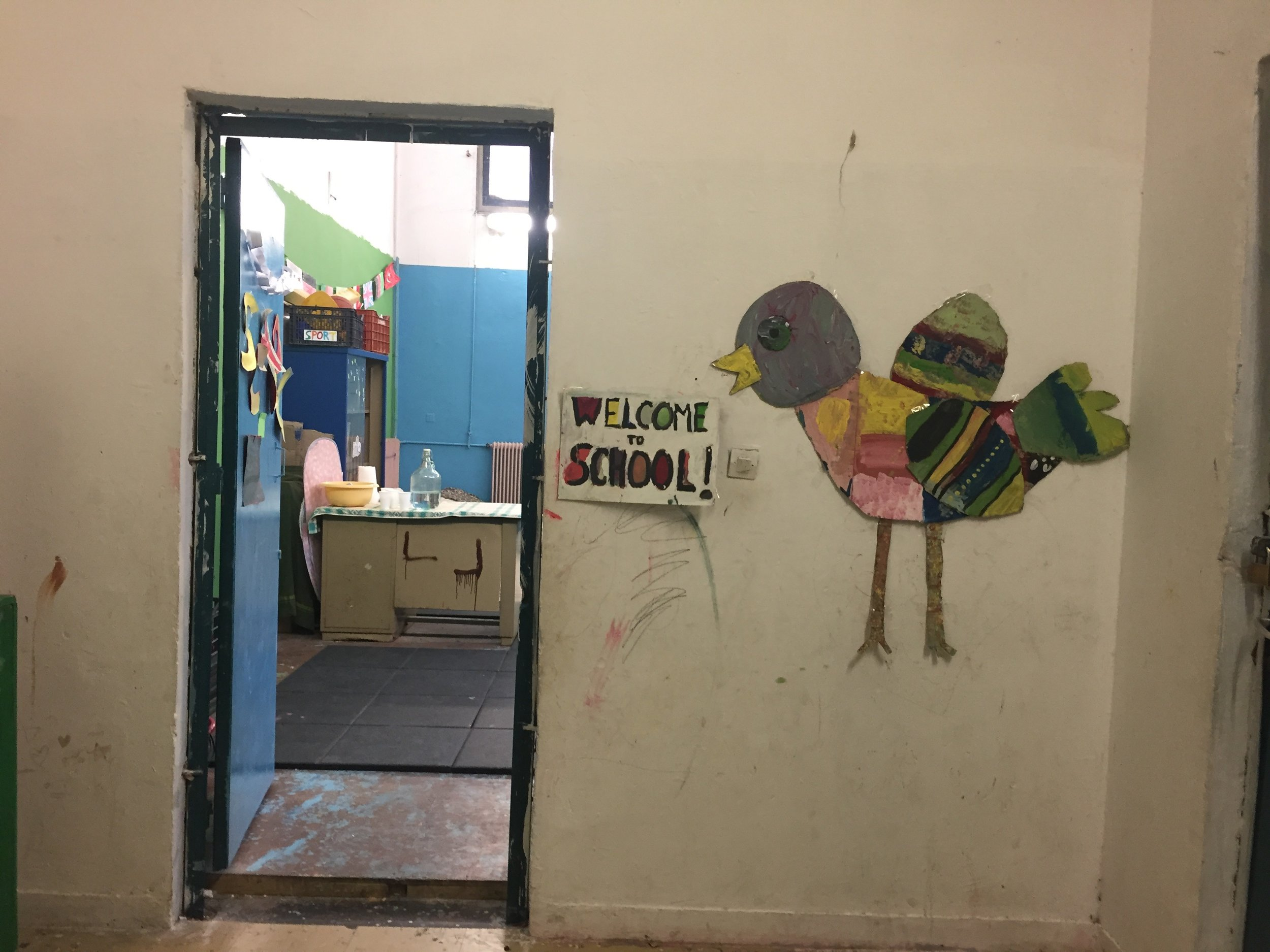 Photo taken by Claudia Broadhead of the former school, now squat, known as '5th School'