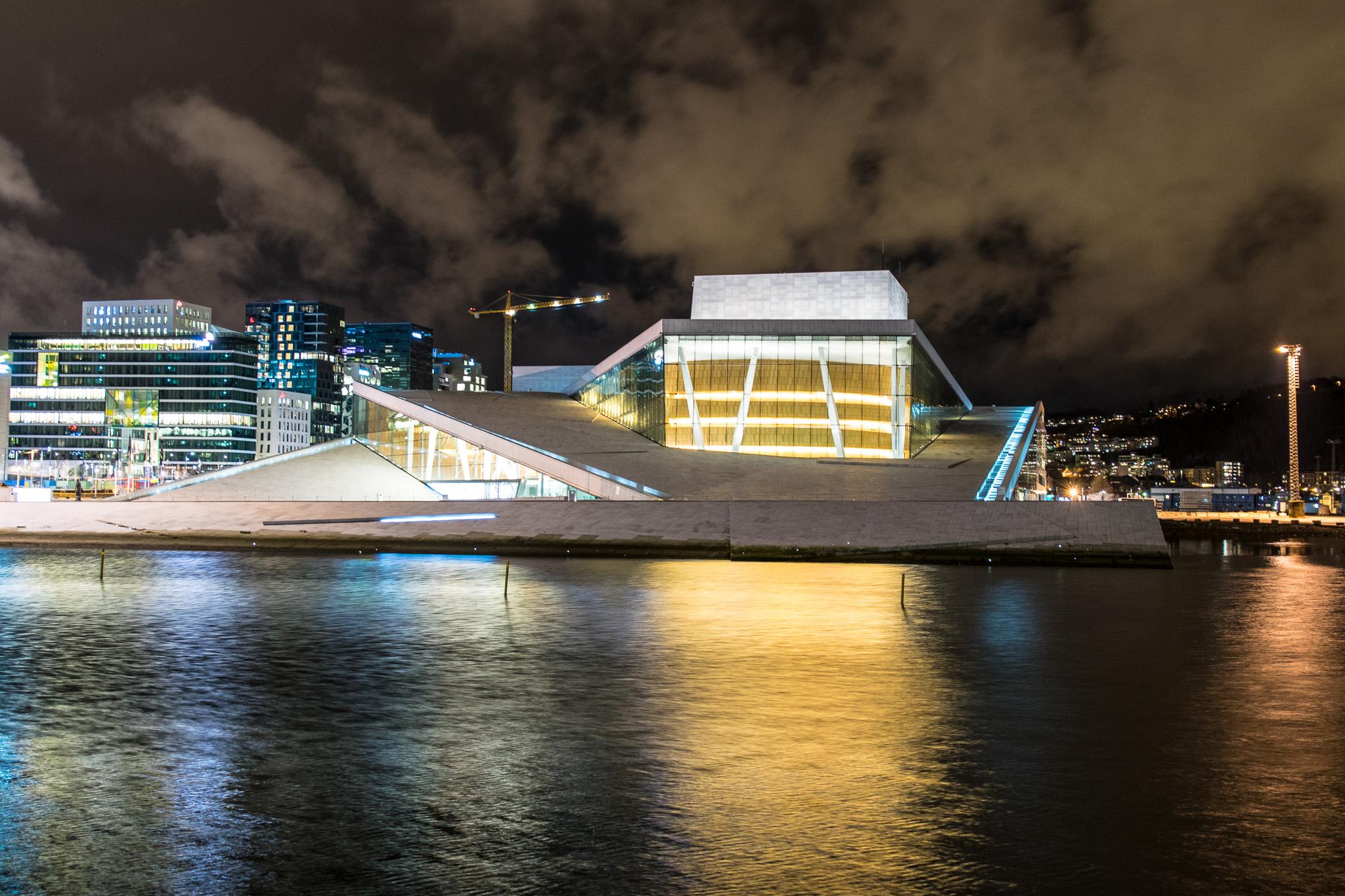 Oslo Opera at night