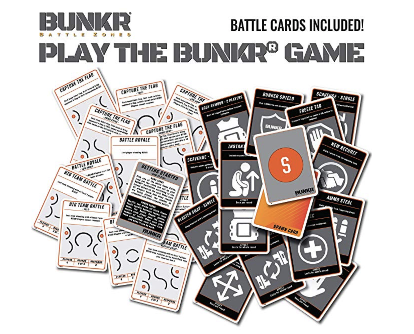 Includes Over 20 Bunkr Game cards.