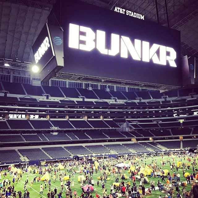 BUNKR Arena at AT&T Stadium in Dallas  #bunkr