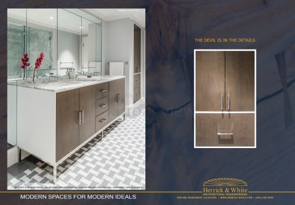 Client: Herrick & White Architectural Woodworkers    Print Advertisement - Spread